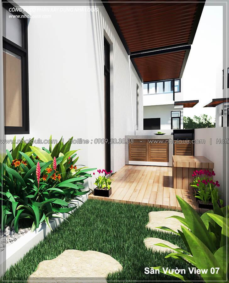Sân vườn Thiết kế nội thất biệt thự hiện đại đẹp tại dự án Lucasta Villa đẳng cấp - 07