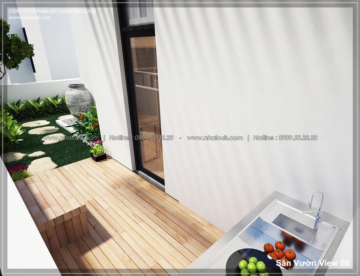 Sân vườn Thiết kế nội thất biệt thự hiện đại đẹp tại dự án Lucasta Villa đẳng cấp - 08
