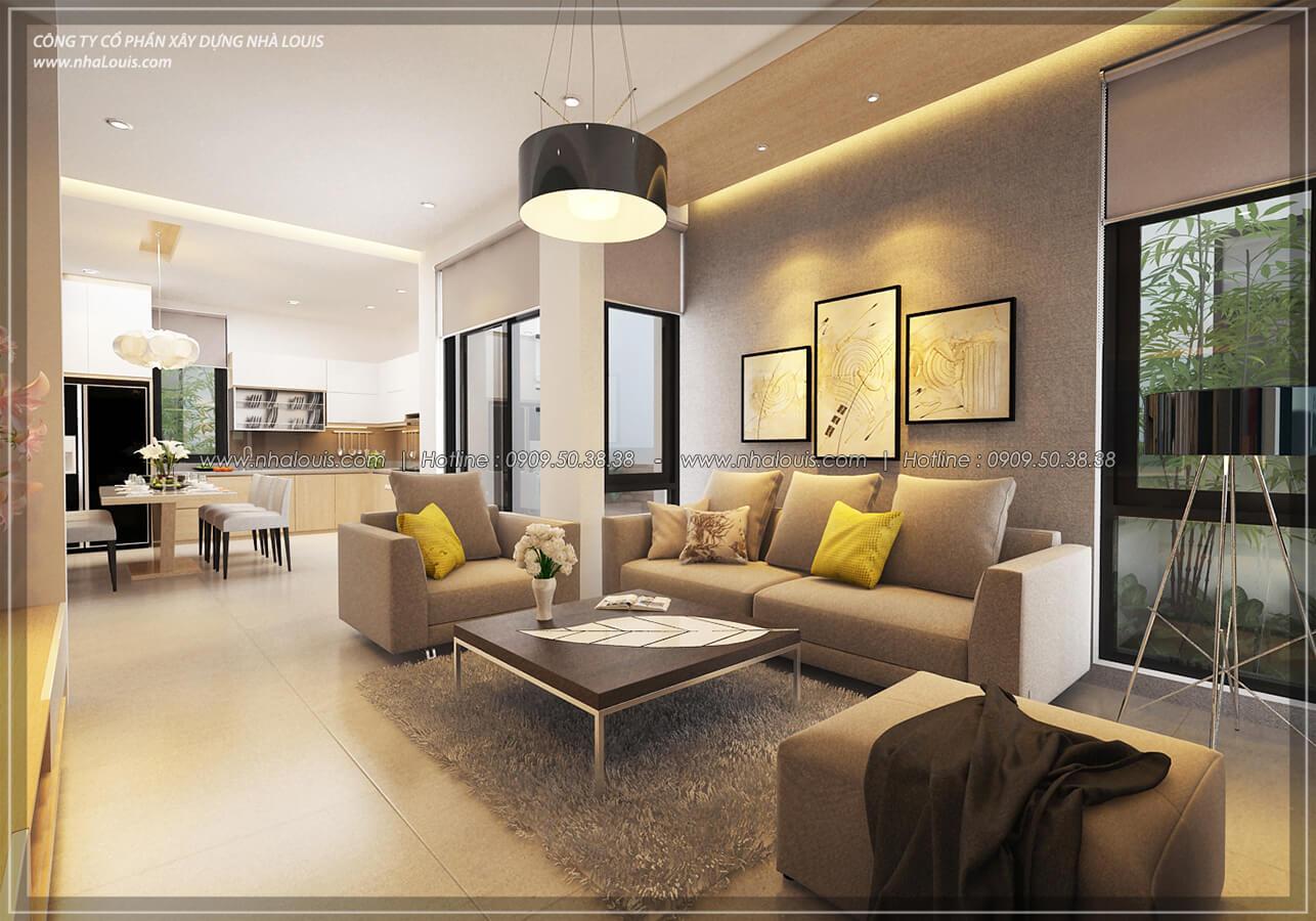 Phòng khách Thiết kế nội thất biệt thự hiện đại đẹp tại dự án Lucasta Villa đẳng cấp - 11