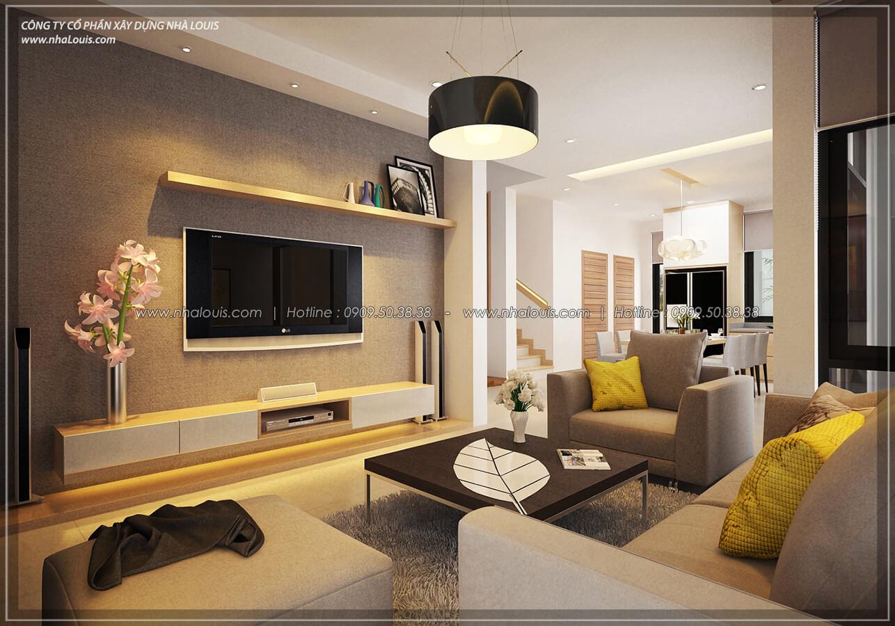 Phòng khách Thiết kế nội thất biệt thự hiện đại đẹp tại dự án Lucasta Villa đẳng cấp - 12