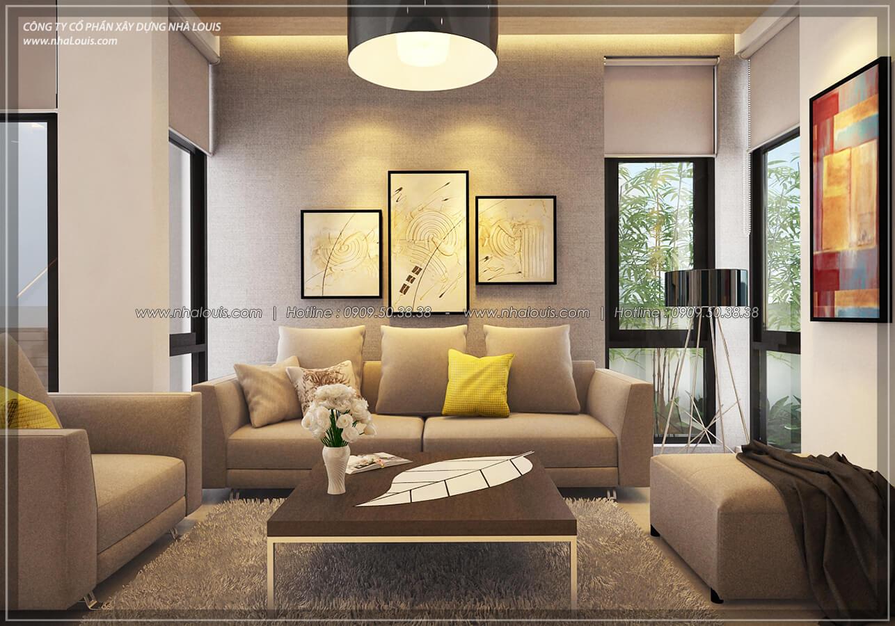 Phòng khách Thiết kế nội thất biệt thự hiện đại đẹp tại dự án Lucasta Villa đẳng cấp - 13