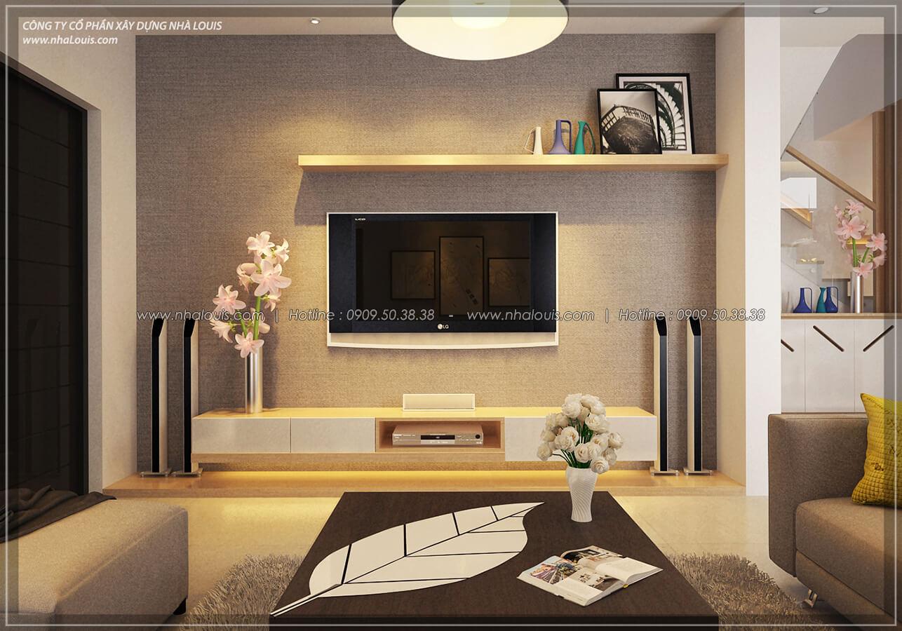 Phòng khách Thiết kế nội thất biệt thự hiện đại đẹp tại dự án Lucasta Villa đẳng cấp - 14