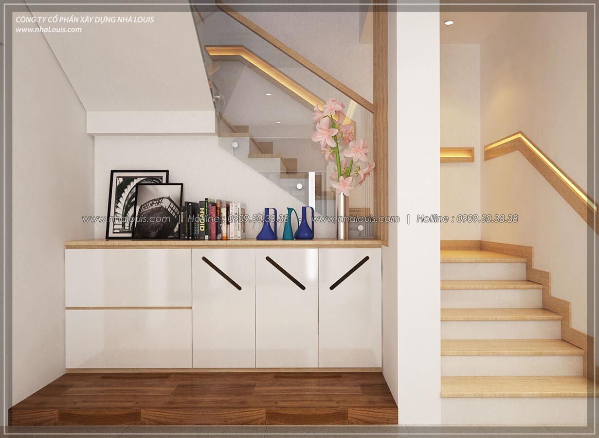 Cầu thang Thiết kế nội thất biệt thự hiện đại đẹp tại dự án Lucasta Villa đẳng cấp - 15