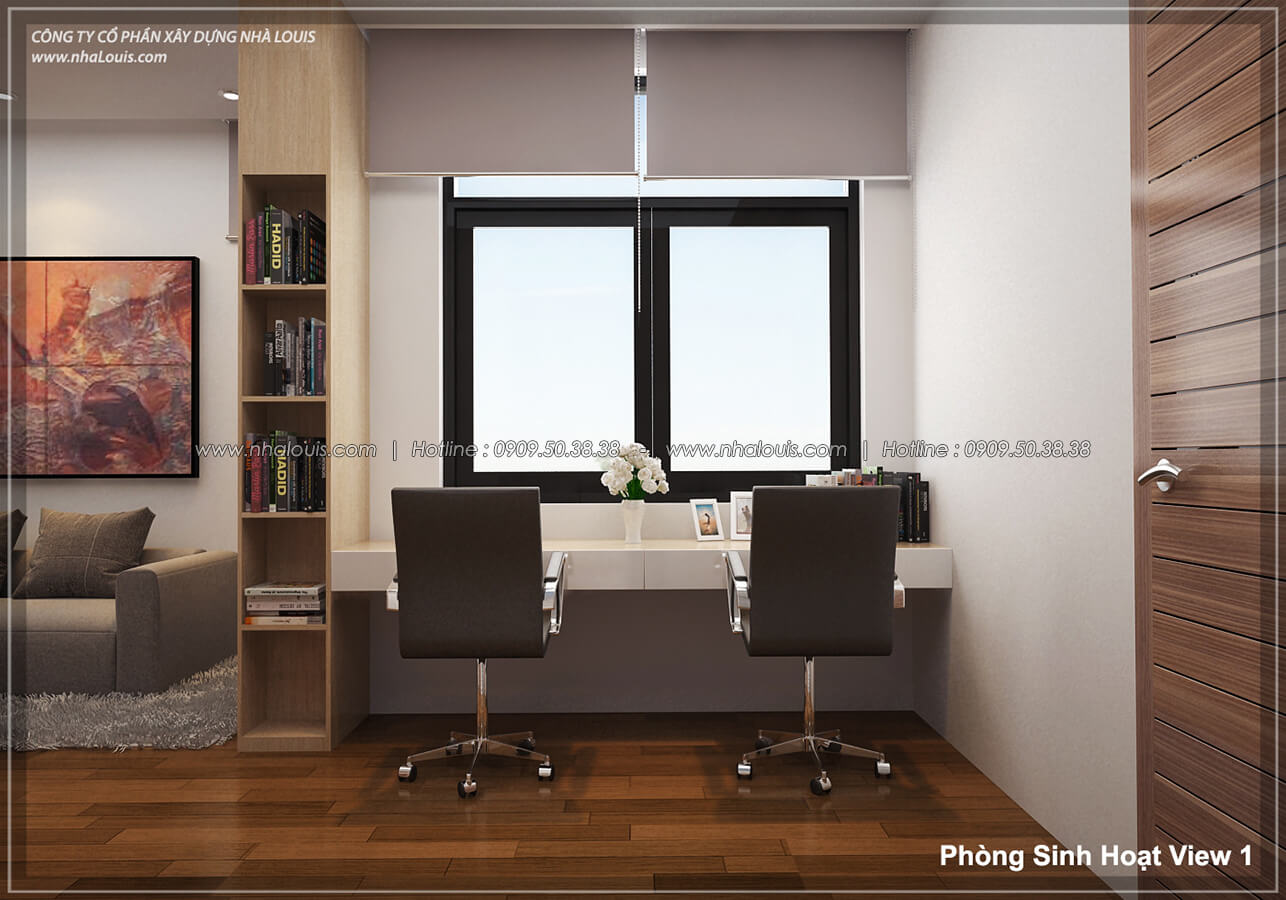 Phòng sinh hoạt Thiết kế nội thất biệt thự hiện đại đẹp tại dự án Lucasta Villa đẳng cấp - 19