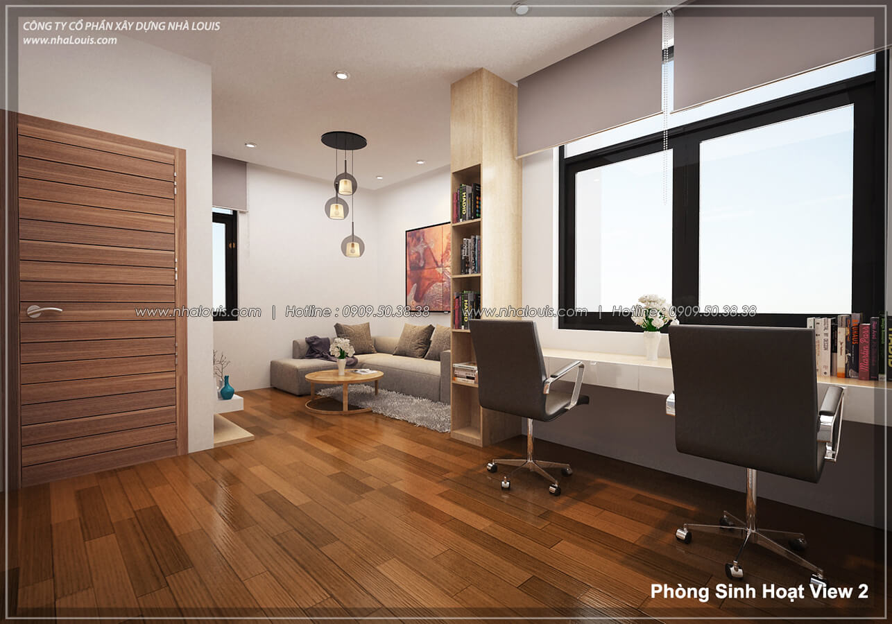 Phòng sinh hoạt Thiết kế nội thất biệt thự hiện đại đẹp tại dự án Lucasta Villa đẳng cấp - 20