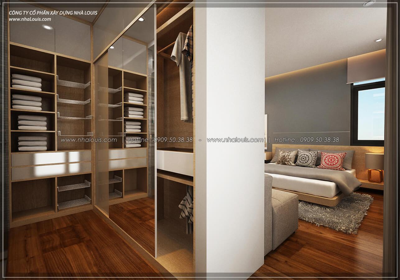 Phòng ngủ và phòng thay đồ Thiết kế nội thất biệt thự hiện đại đẹp tại dự án Lucasta Villa đẳng cấp - 25