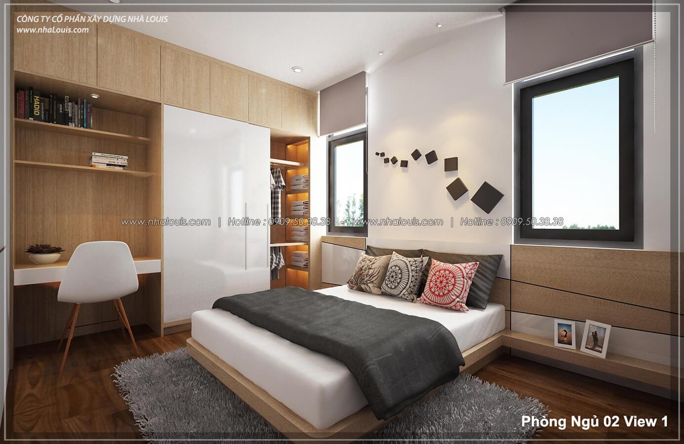 Phòng ngủ Thiết kế nội thất biệt thự hiện đại đẹp tại dự án Lucasta Villa đẳng cấp - 29