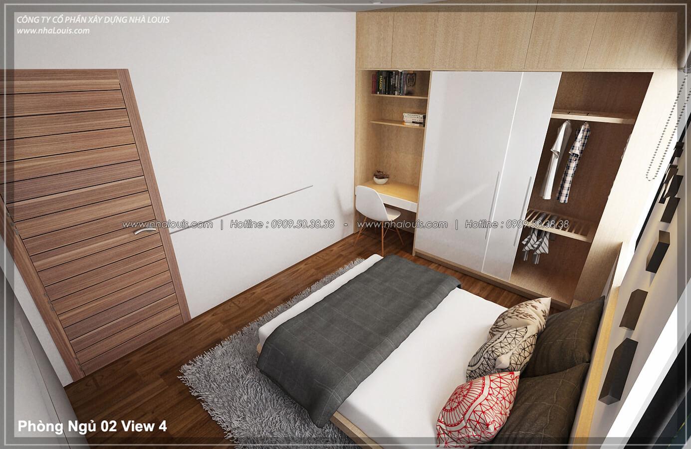 Phòng ngủ Thiết kế nội thất biệt thự hiện đại đẹp tại dự án Lucasta Villa đẳng cấp - 32