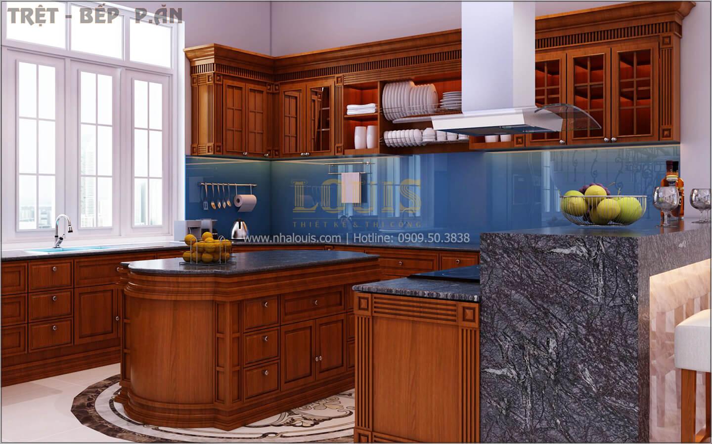 Bếp và phòng ăn Thiết kế biệt thự tân cổ điển 3 tầngcó gara ô tô tại Tân Phú