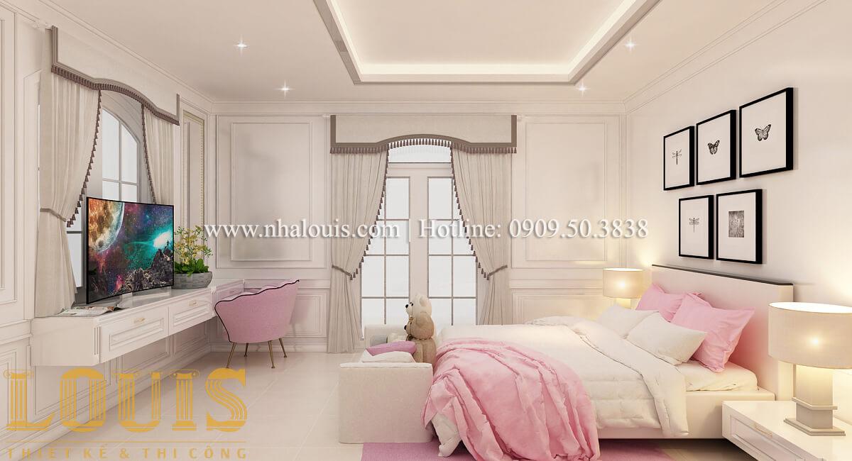 Phòng ngủ con gái Mẫu biệt thự đẹp 3 tầng vừa ở vừa kinh doanh tại Đồng Nai
