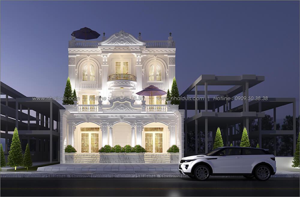 Mặt tiền Mẫu biệt thự đẹp 3 tầng vừa ở vừa kinh doanh tại Đồng Nai - 1