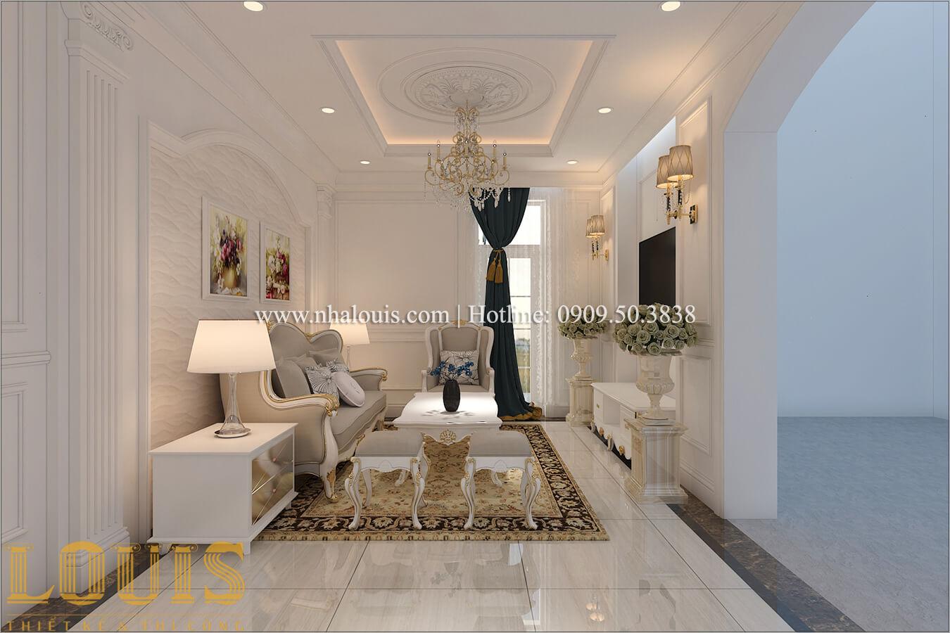 Phòng sinh hoạt chung Mẫu biệt thự đẹp 3 tầng vừa ở vừa kinh doanh tại Đồng Nai