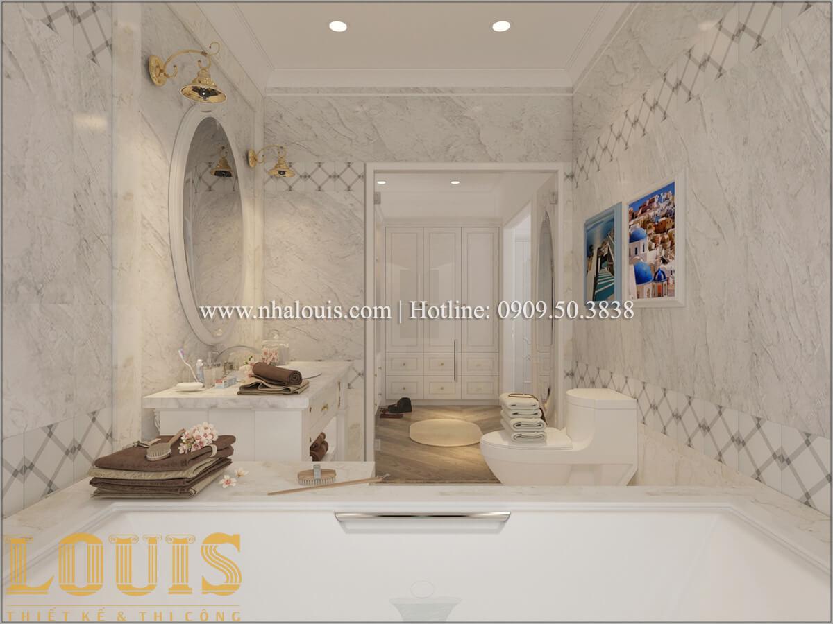 Phòng tắm và WC Mẫu biệt thự đẹp 3 tầng vừa ở vừa kinh doanh tại Đồng Nai