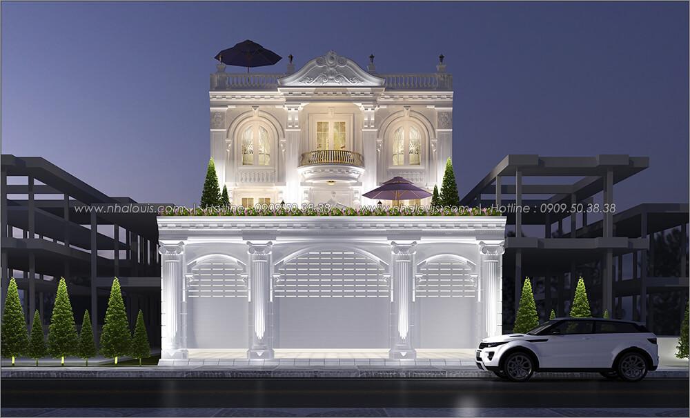 Mặt tiền Mẫu biệt thự đẹp 3 tầng vừa ở vừa kinh doanh tại Đồng Nai - 2