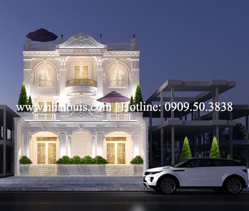 Thiết kế biệt thự cổ điển 3 tầng vừa ở vừa kinh doanh tại Đồng Nai