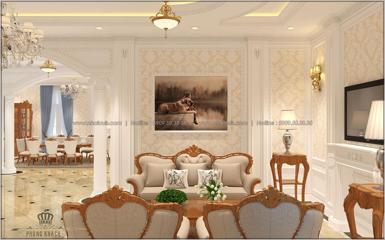 Phòng khách Thiết kế biệt thự cổ điển Châu Âu 2 mặt tiền đẹp lộng lẫy tại Sóc Trăng - 06