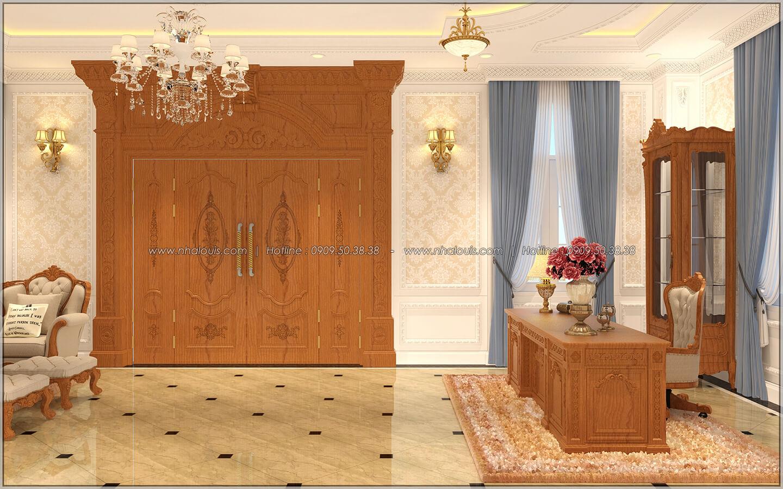 Phòng khách Thiết kế biệt thự cổ điển Châu Âu 2 mặt tiền đẹp lộng lẫy tại Sóc Trăng - 08