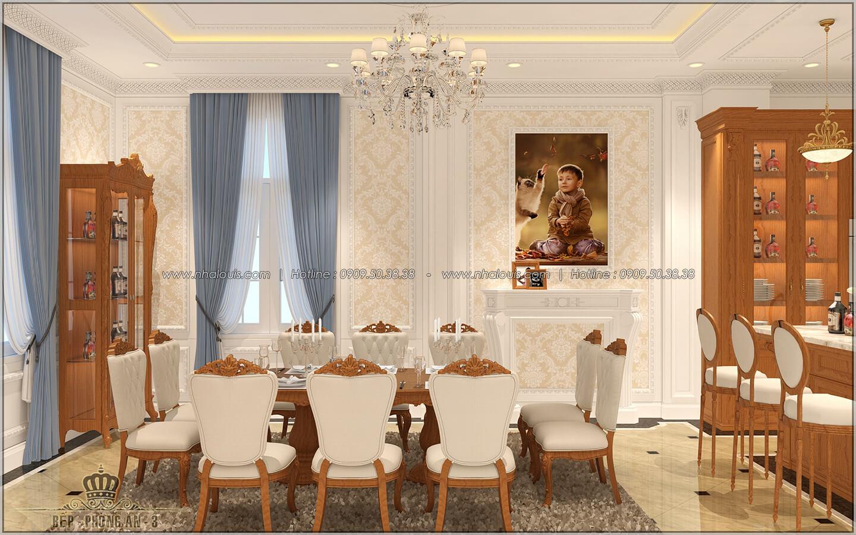 Phòng ăn Thiết kế biệt thự cổ điển Châu Âu 2 mặt tiền đẹp lộng lẫy tại Sóc Trăng - 14