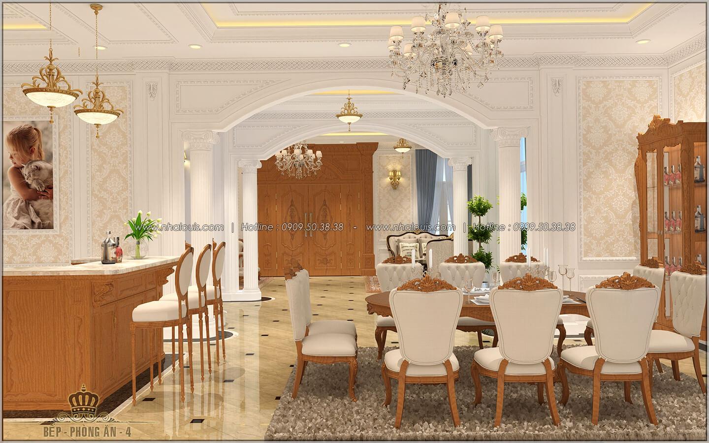 Phòng ăn Thiết kế biệt thự cổ điển Châu Âu 2 mặt tiền đẹp lộng lẫy tại Sóc Trăng - 15