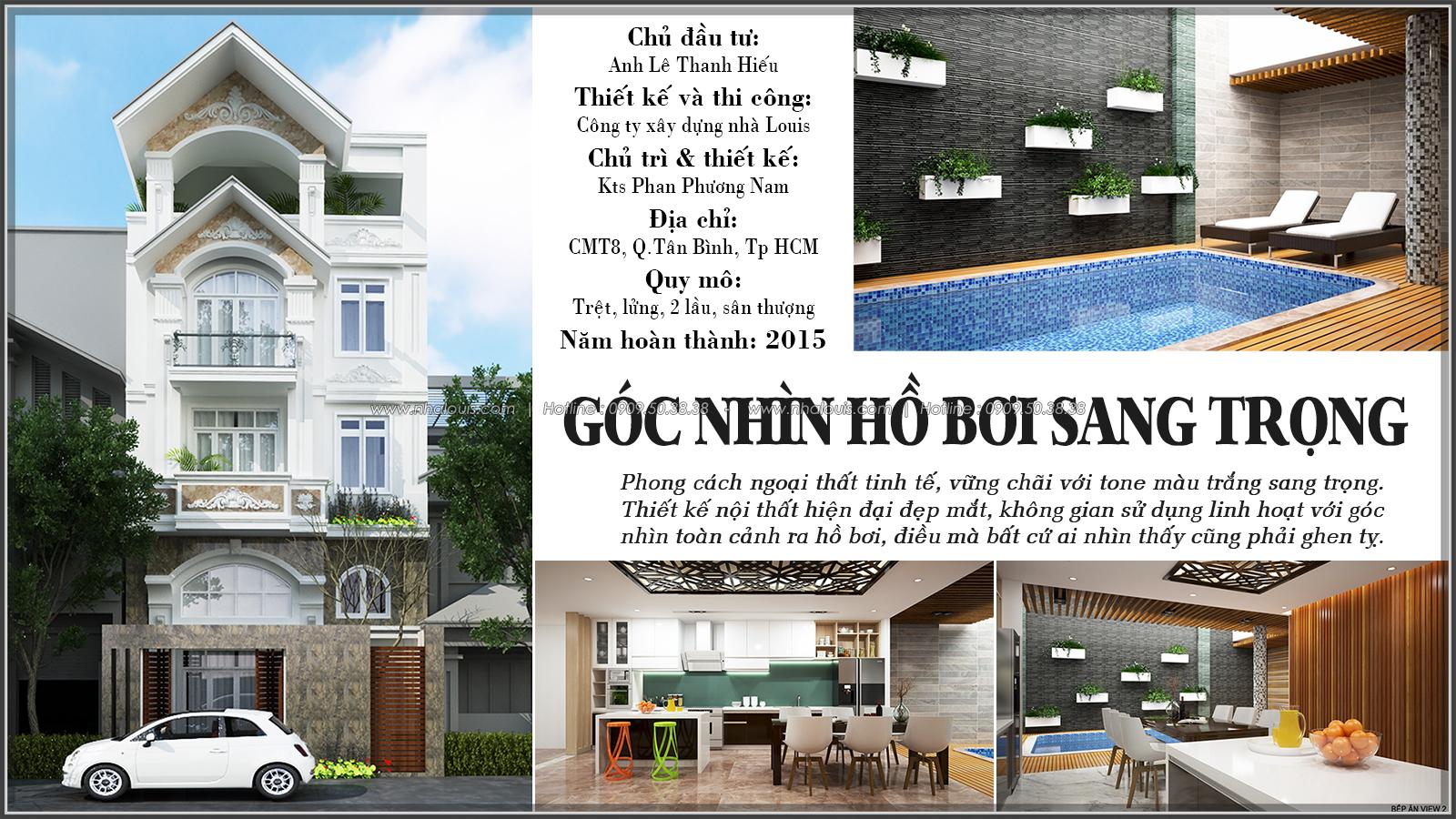 Thiết kế biệt thự có hồ bơi trong nhà ấn tượng tại quận Tân Bình - 1
