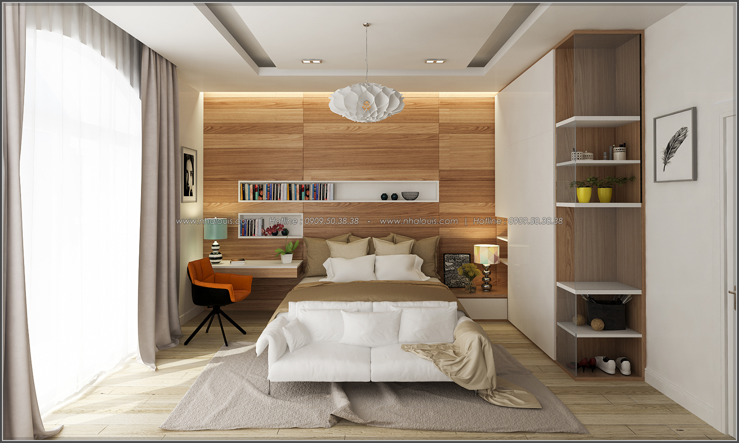 Thiết kế biệt thự có hồ bơi trong nhà ấn tượng tại quận Tân Bình - 24