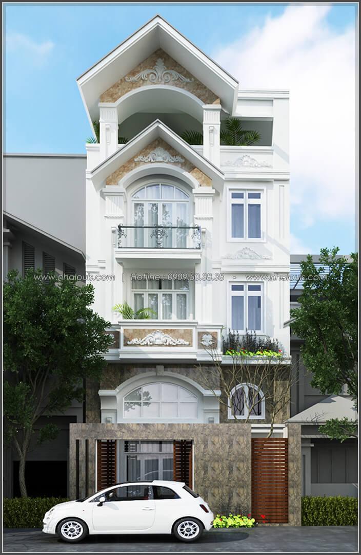 Mặt tiền Thiết kế biệt thự có hồ bơi trong nhà ấn tượng tại quận Tân Bình - 2