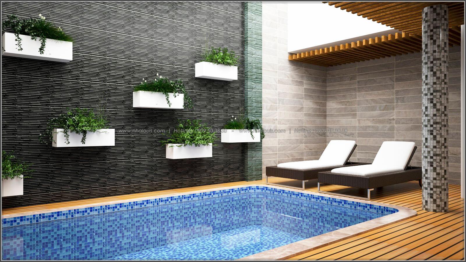 Hồ bơi Thiết kế biệt thự có hồ bơi trong nhà ấn tượng tại quận Tân Bình - 8