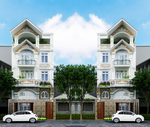 Thiết kế biệt thự có hồ bơi trong nhà ấn tượng tại Quận Tân Bình