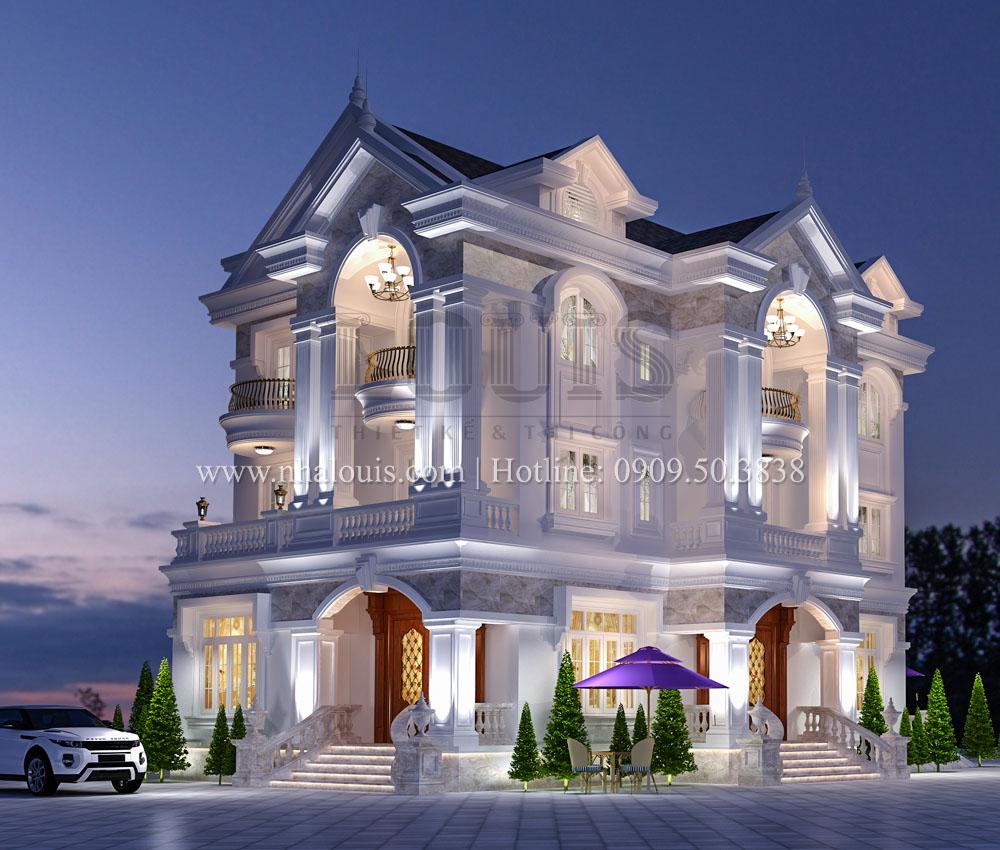 Biệt thự 3 tầng tân cổ điển đẹp tráng lệ tại quận Tân Phú