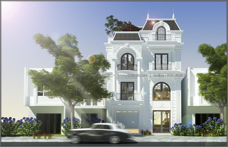 Thiết kế biệt thự tân cổ điển tại Đồng Nai nổi bật trên đường phố tấp nập - 01