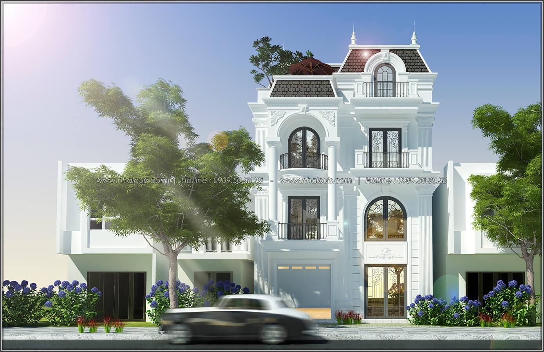 Thiết kế biệt thự 4 phòng ngủ tại Đồng Nai nổi bật trên đường phố tấp nập - 01