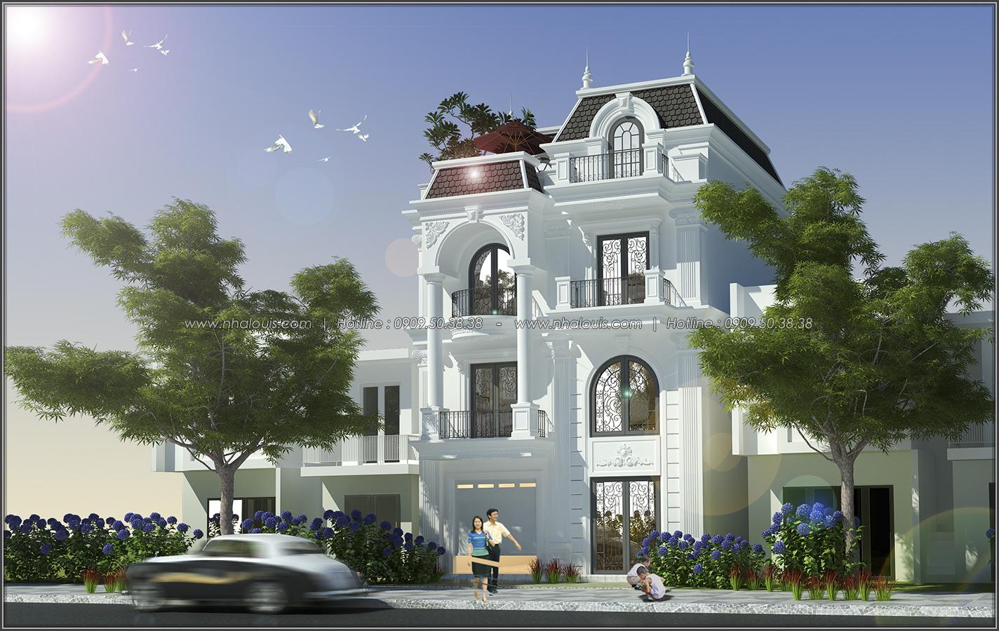 Thiết kế biệt thự tân cổ điển tại Đồng Nai nổi bật trên đường phố tấp nập - 02
