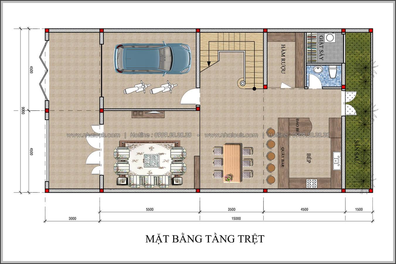 Thiết kế biệt thự 4 phòng ngủ tại Đồng Nai nổi bật trên đường phố tấp nập - 03