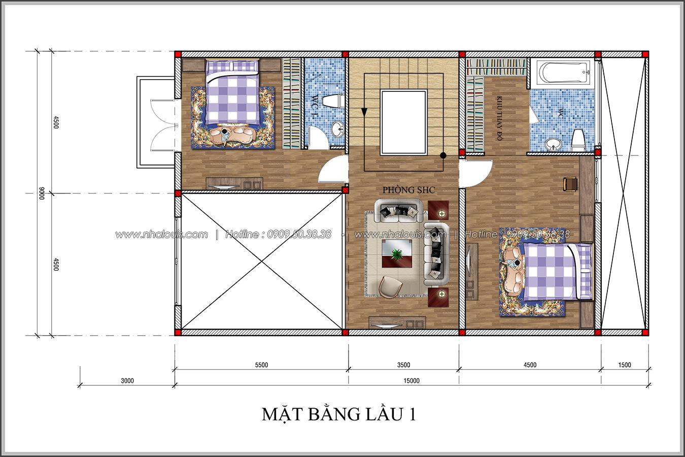 Thiết kế biệt thự tân cổ điển tại Đồng Nai nổi bật trên đường phố tấp nập - 04