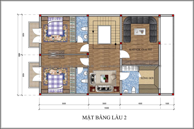 Thiết kế biệt thự 4 phòng ngủ tại Đồng Nai nổi bật trên đường phố tấp nập - 05
