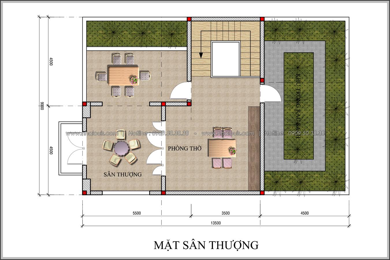 Thiết kế biệt thự tân cổ điển tại Đồng Nai nổi bật trên đường phố tấp nập - 06