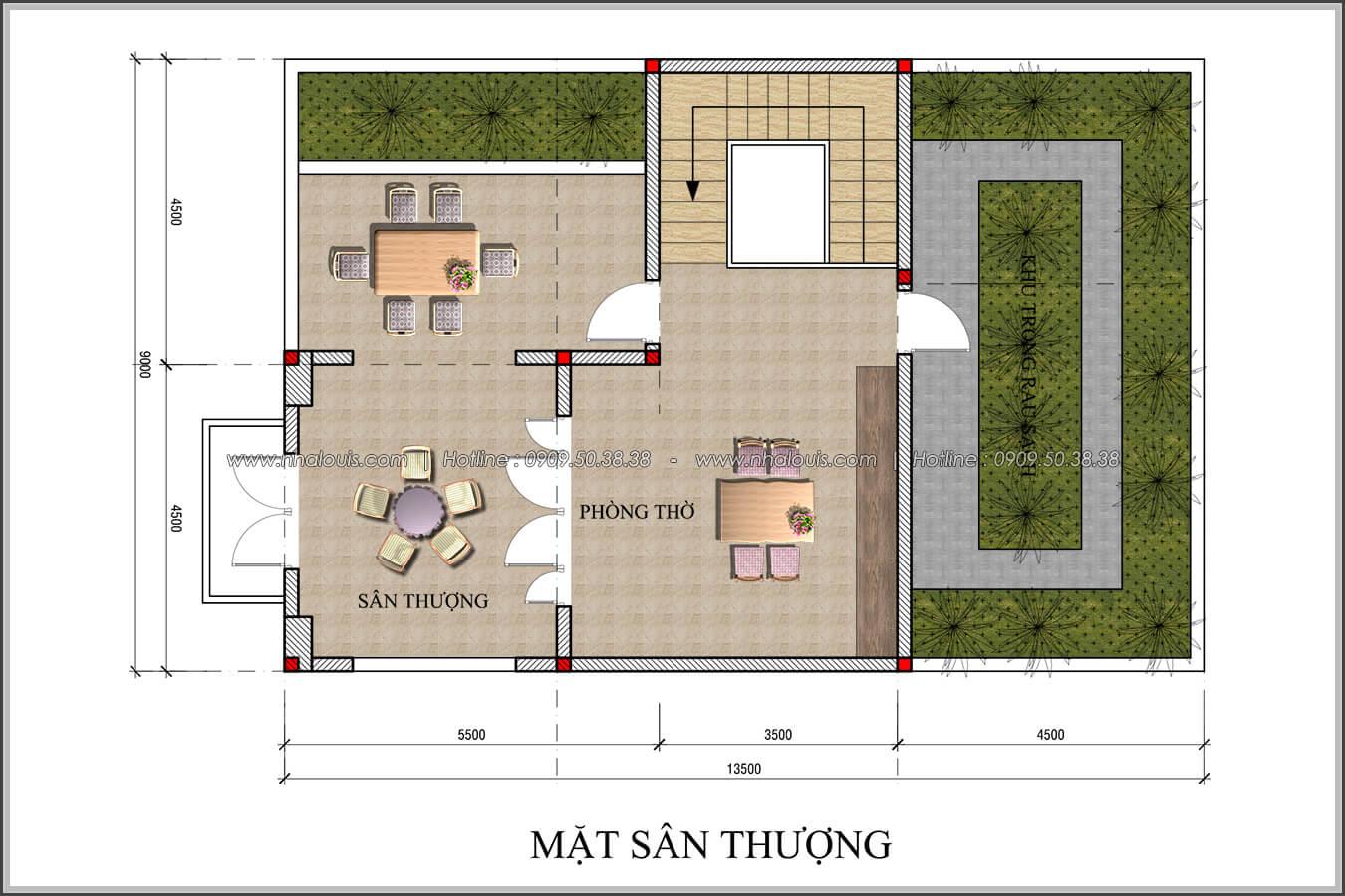 Thiết kế biệt thự 4 phòng ngủ tại Đồng Nai nổi bật trên đường phố tấp nập - 06