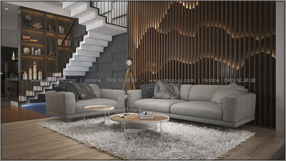 Phòng khách Thiết kế cải tạo nhà cũ thành mới đẹp hiện đại tại Bình Chánh - 12