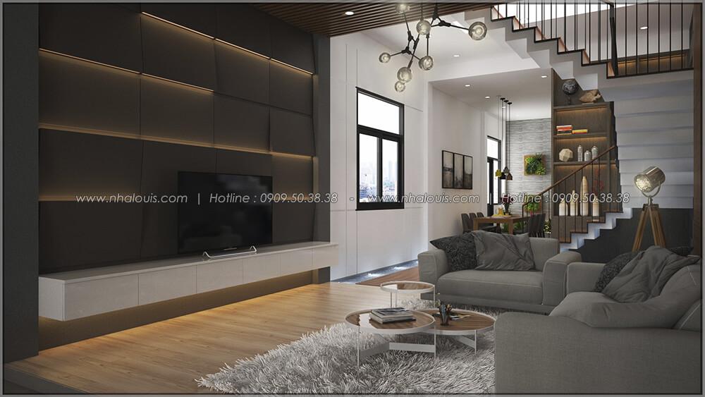Phòng khách Thiết kế cải tạo nhà cũ thành mới đẹp hiện đại tại Bình Chánh - 13