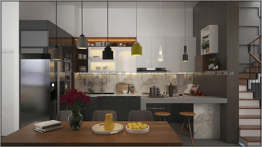Phòng bếp và phòng ăn Thiết kế cải tạo nhà cũ thành mới đẹp hiện đại tại Bình Chánh - 15