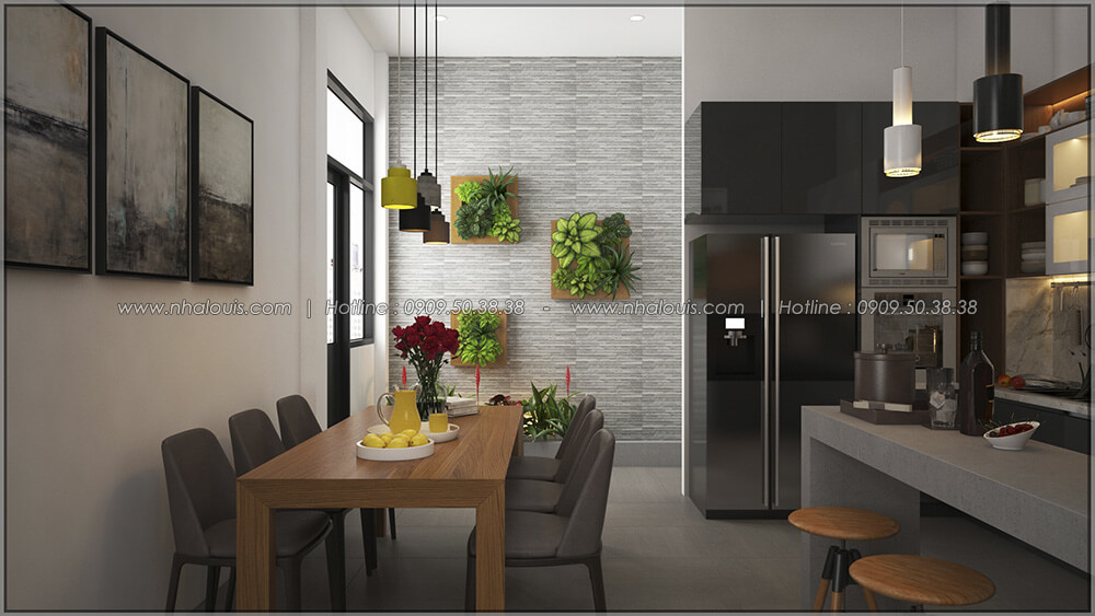 Phòng bếp và phòng ăn Thiết kế cải tạo nhà cũ thành mới đẹp hiện đại tại Bình Chánh - 17