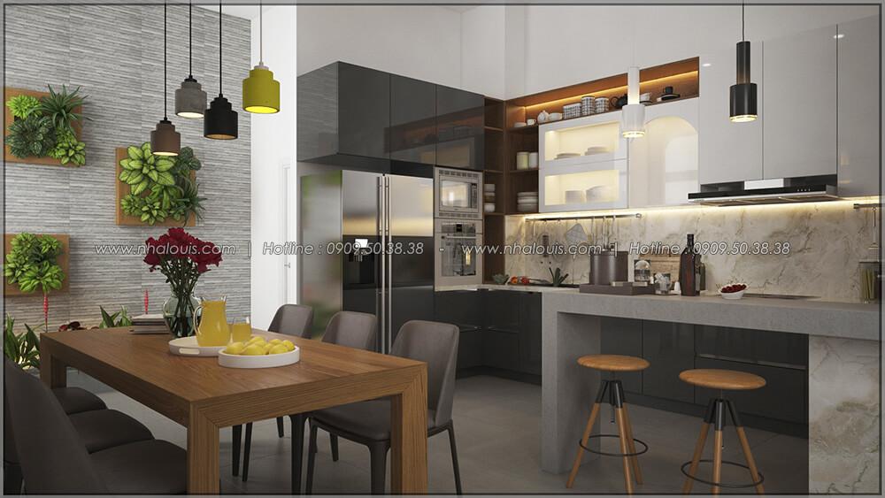 Phòng bếp và phòng ăn Thiết kế cải tạo nhà cũ thành mới đẹp hiện đại tại Bình Chánh - 18