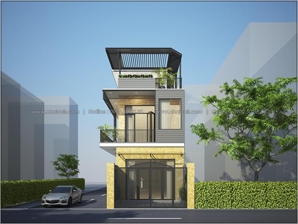 Mặt tiền Thiết kế cải tạo nhà cũ thành nhà mới đẹp hiện đại tại Bình Chánh - 02