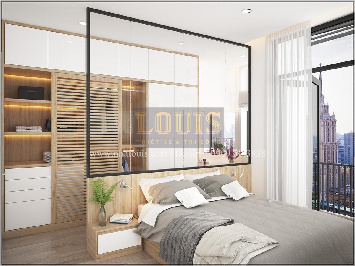 Phòng ngủ Thiết kế cải tạo nhà cũ thành nhà phố đẹp hiện đại tại Bình Chánh