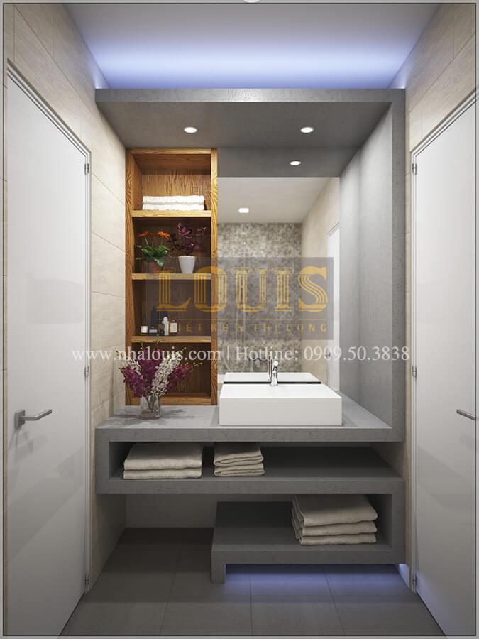 Phòng tắm + WC Thiết kế cải tạo nhà cũ thành mới đẹp hiện đại tại Bình Chánhẹp hiện đại tại Bình Chánh