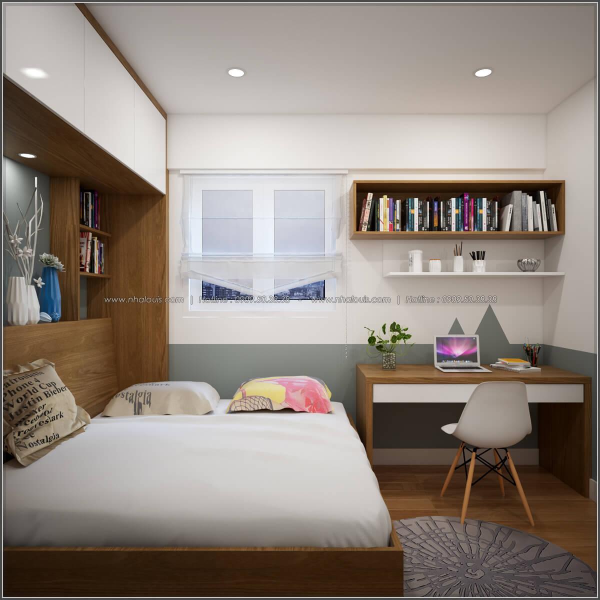 Phòng ngủ Thiết kế căn hộ chung cư 3 phòng ngủ Happy Valley quận 7 - 11