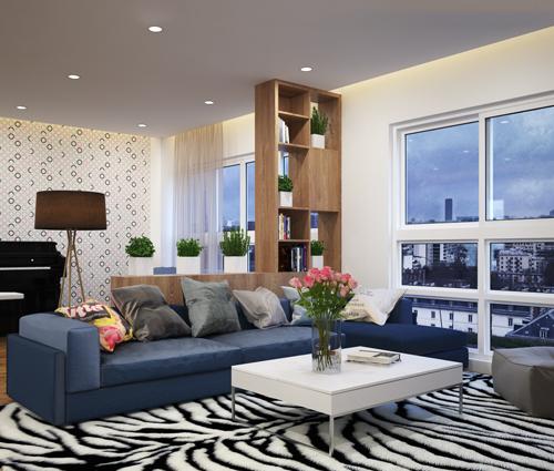 Thiết kế xây dựng căn hộ 3 phòng ngủ rộng thoáng khu Happy Valley quận 7