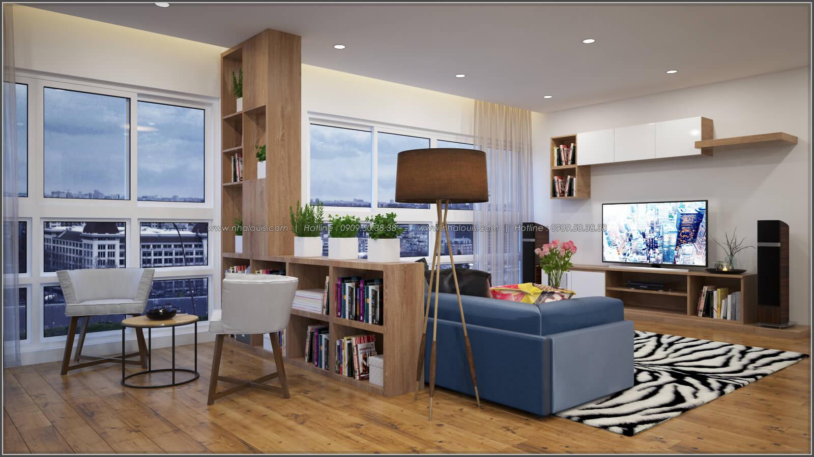 Phòng khách Thiết kế căn hộ chung cư 3 phòng ngủ Happy Valley quận 7 - 3