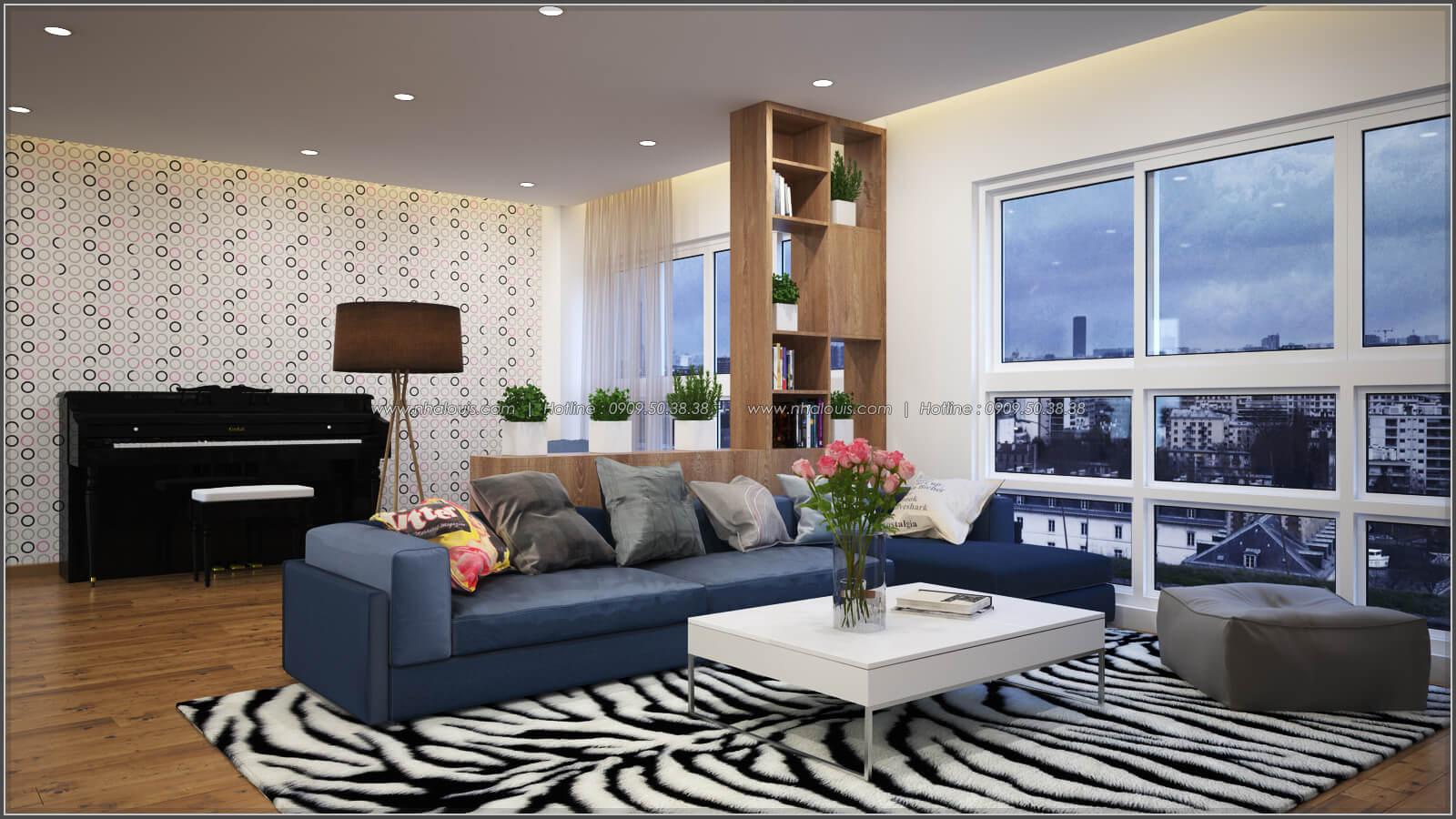 Phòng khách Thiết kế căn hộ chung cư 3 phòng ngủ Happy Valley quận 7 - 4
