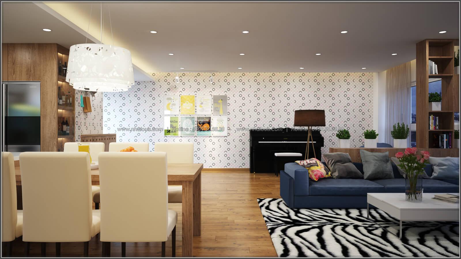 Phòng khách Thiết kế căn hộ chung cư 3 phòng ngủ Happy Valley quận 7 - 5